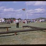 NWMP barracks from blacksmith shop.  Wood Mountain.  07/10/1965