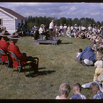 Official opening NWMP barracks.  Wood Mountain.  07/10/1965