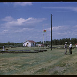 Official opening day - reconstruction NWMP post.  Wood Mountain.  07/10/1965